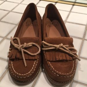 Lucky brand suede leather moccasins